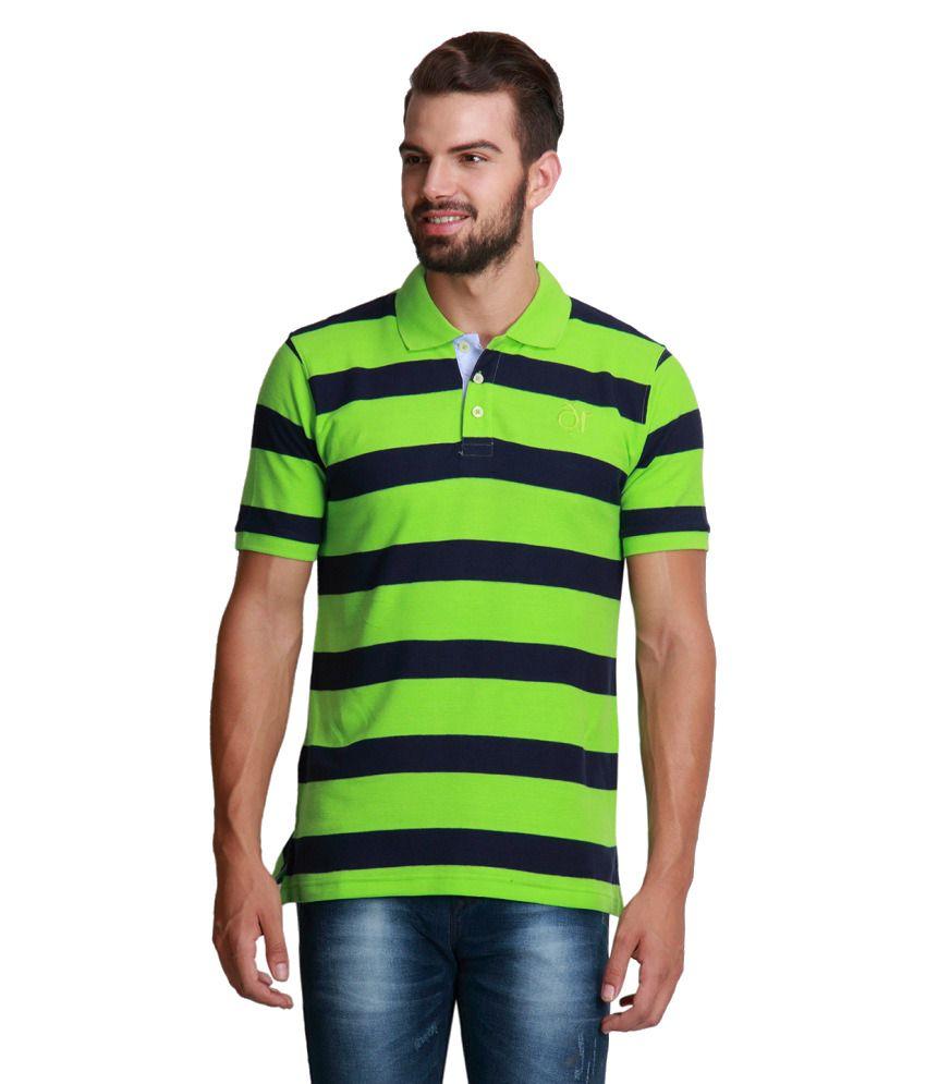 Design roadies green polo t shirt buy design roadies for Polo t shirt design online