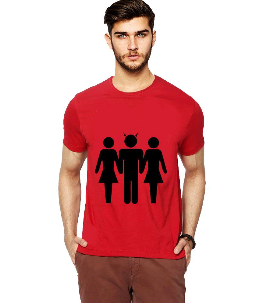 Ilyk Devil Inside Men Maroon Printed T-shirt