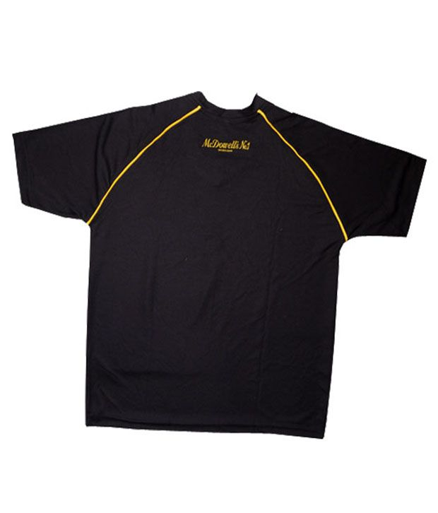 T Shirt Cricket - McDowell's No.1 (Black)
