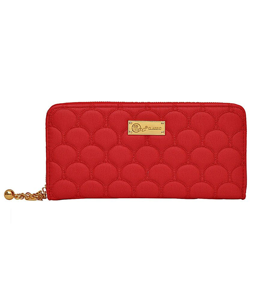 Bcc Red Hot Dangler Wallet For Women