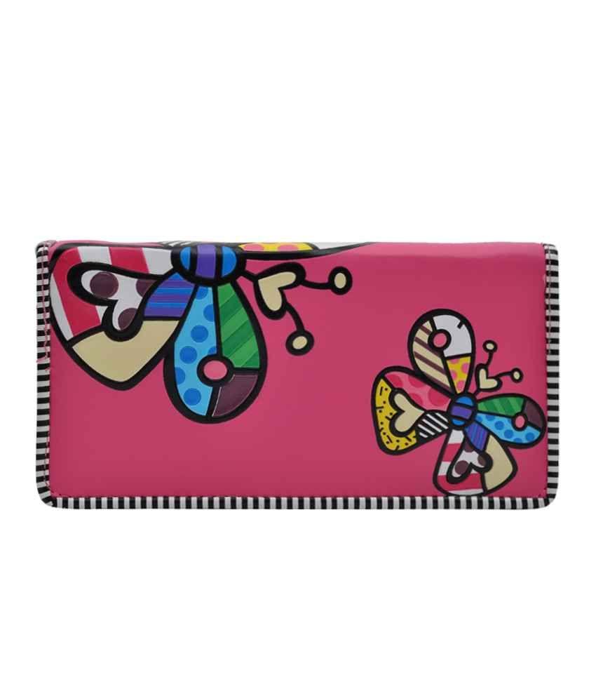 Hawai Butterfly Sparkle Pink Wallet For Women