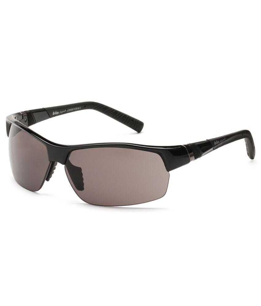 Lee Cooper 9056 FOB-BLK-GREY Rectangle Sunglasses