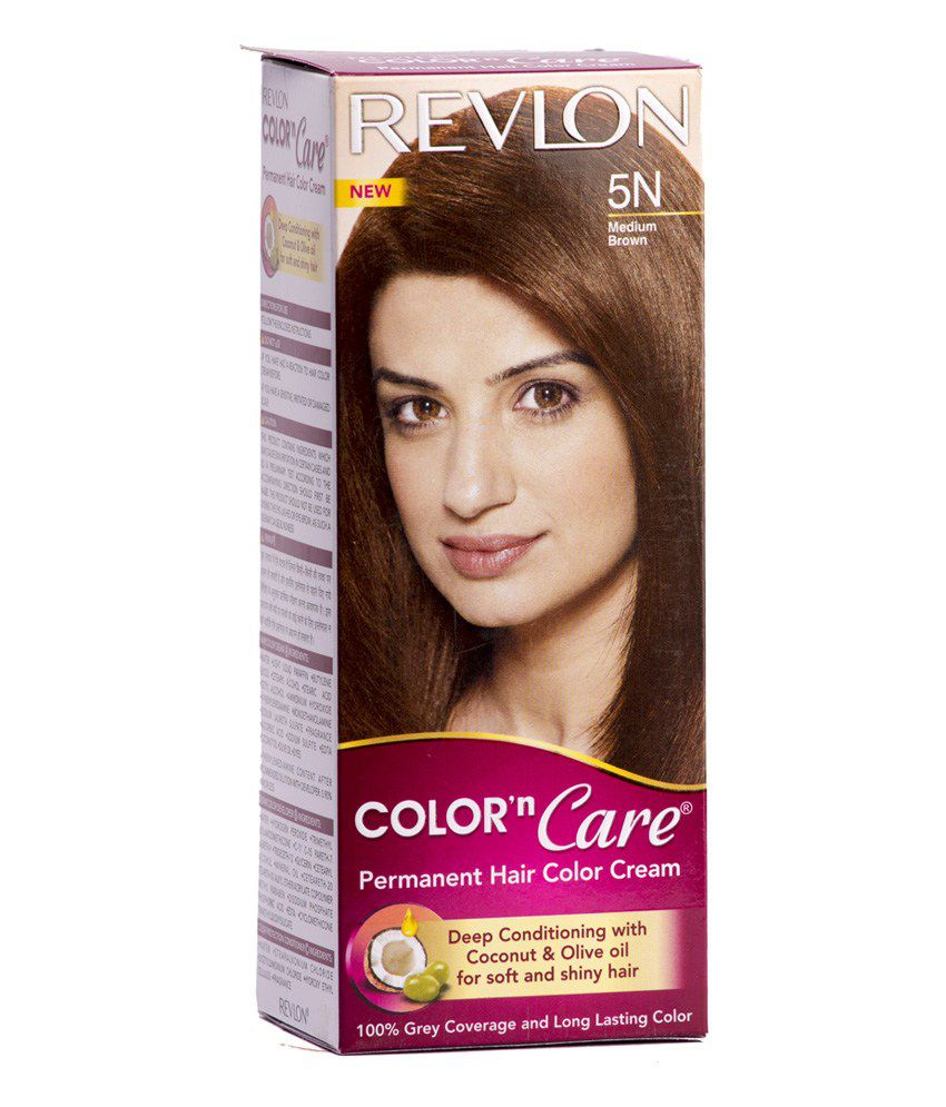 Revlon Permanent Hair Color Medium Brown 5n Hair Color Cream 40g