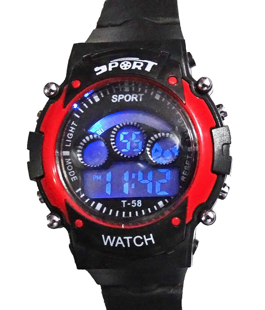 f3845a7bb Sport Black Silicon Digital Watch Price in India: Buy Sport Black Silicon Digital  Watch Online at Snapdeal