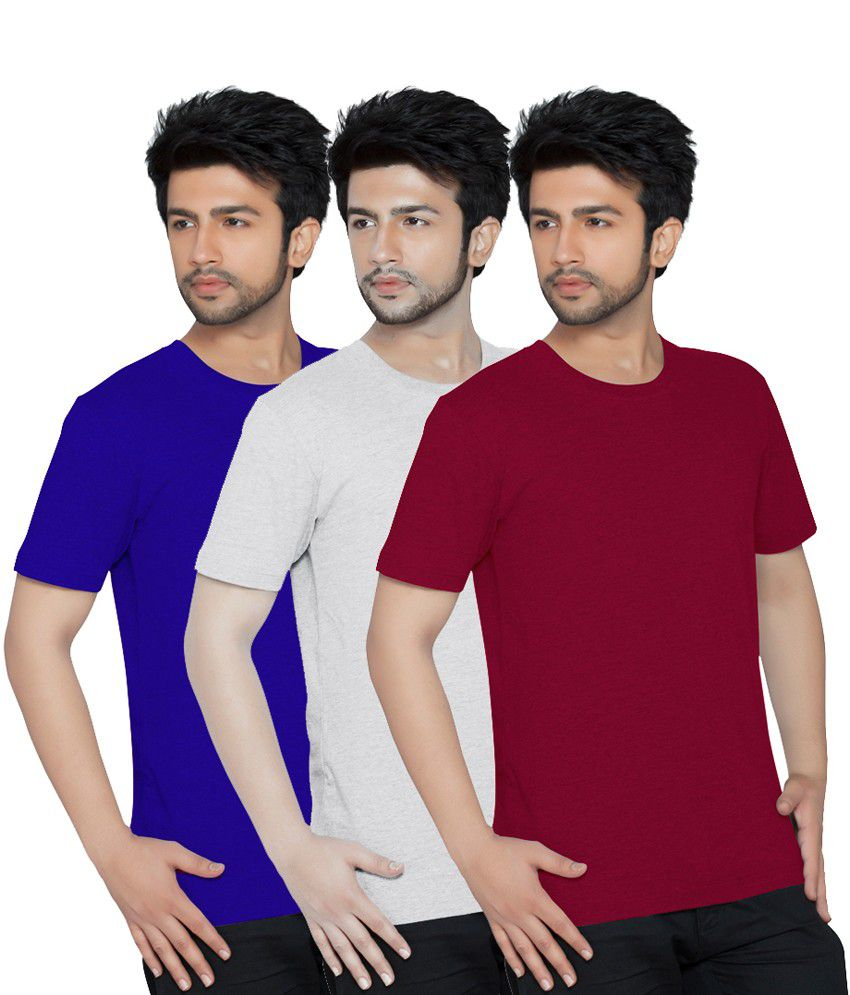 Texfit Multicolor Half Cotton Round Neck T Shirt