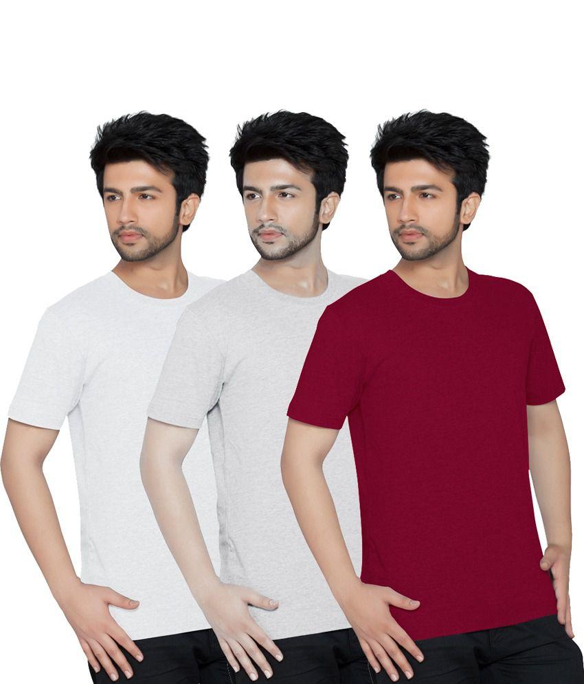 Texfit Multicolor Half Cotton Round Neck T Shirt