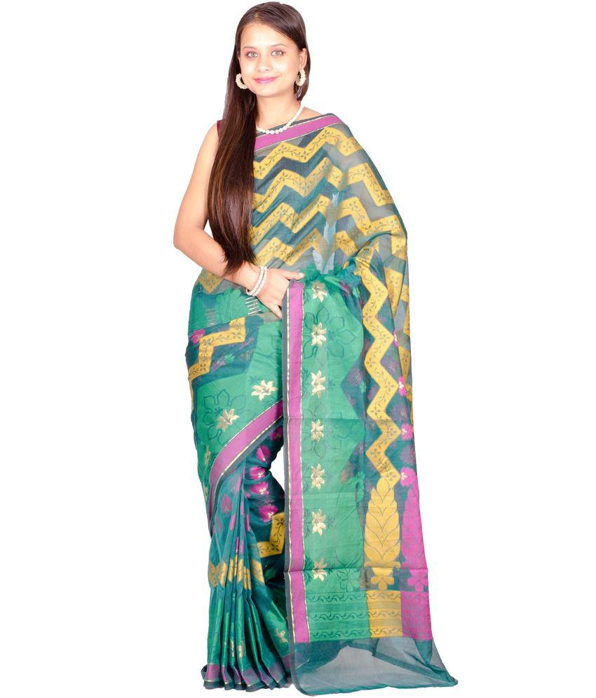 Chandrakala Multi Color Cotton Saree