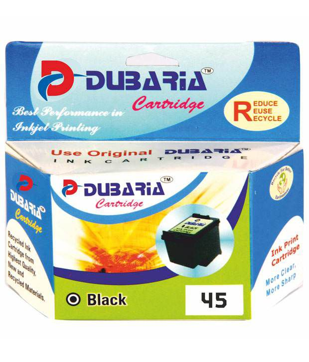 Dubaria 45 Black Ink Cartridge Compatible For Hp 45 Black