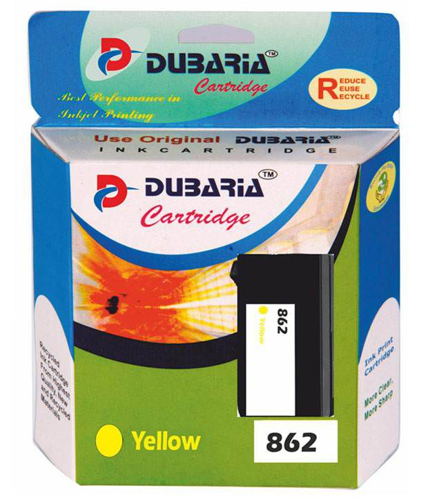 Dubaria 862 Yellow Colour Ink Cartridge Compatible For Hp 862 Yellow Color