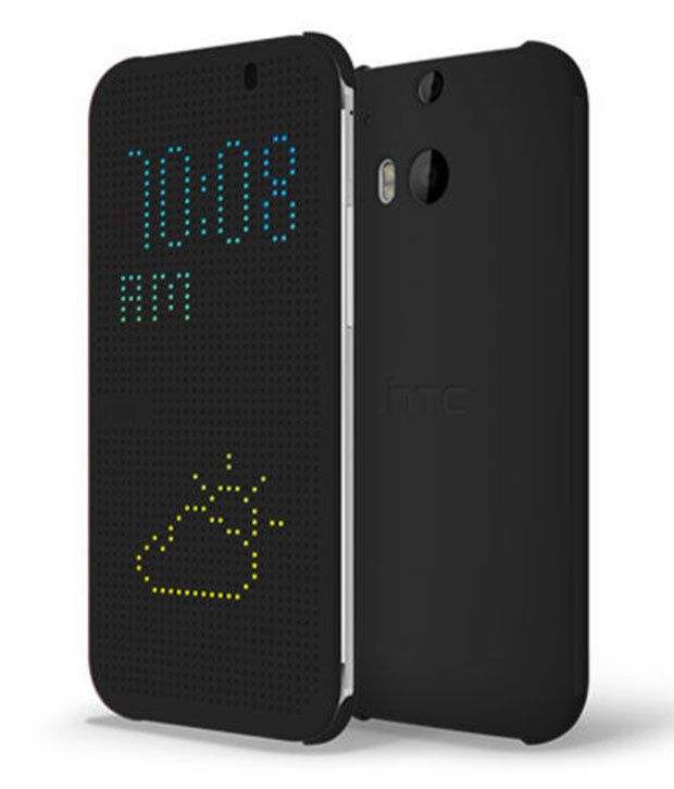 info for e02e8 5cec3 Htc One E8 E-8 / Ace New Dot View Smart Flip Cover Case Black