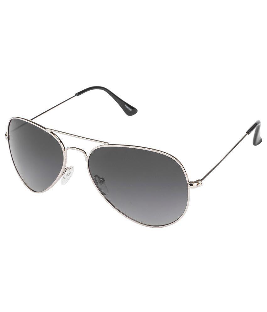 Vincent Chase Gray Medium Men Aviator Sunglasses