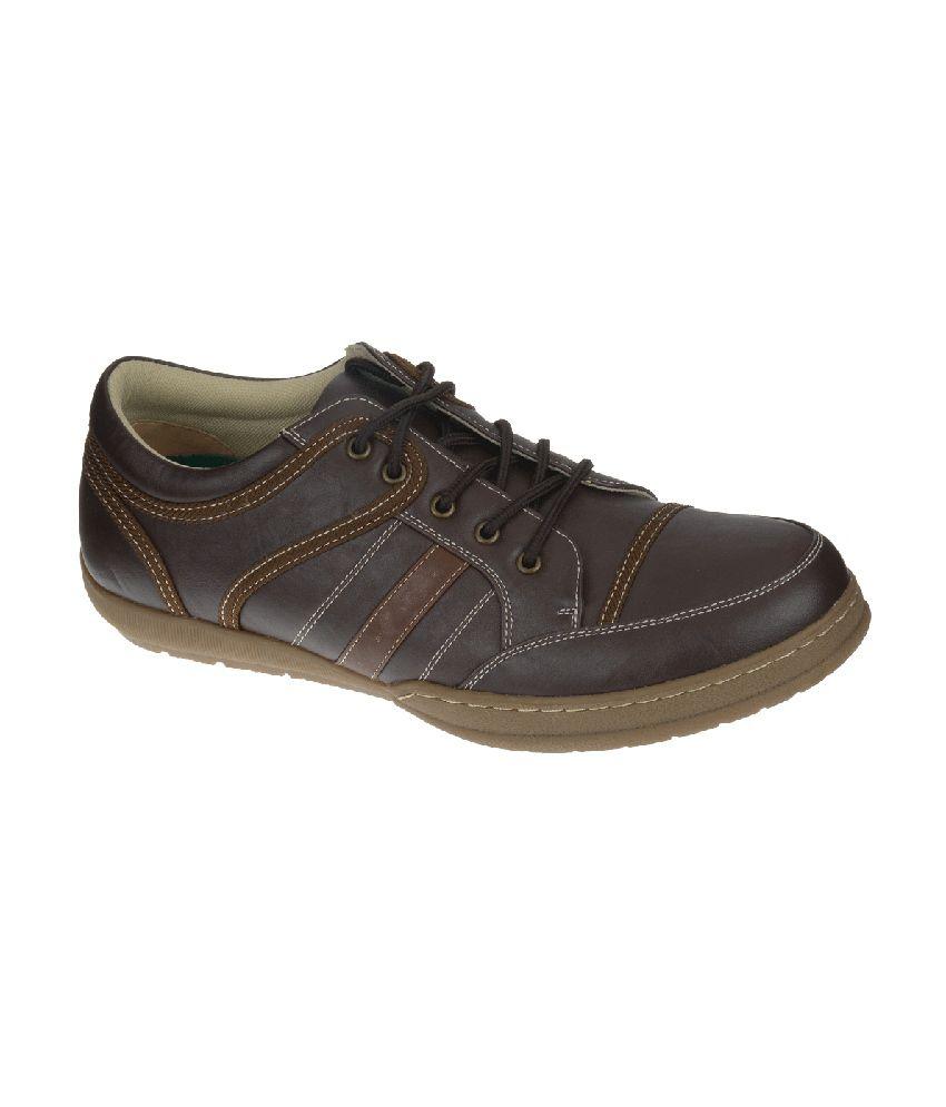 Khadim's Lazard Brown Lace-up Shoes