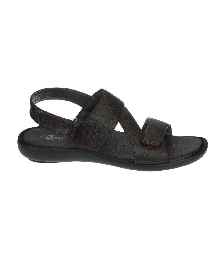 09e68a24b Khadim s Lazard Brown Strap Sandals Khadim s Lazard Brown Strap Sandals ...