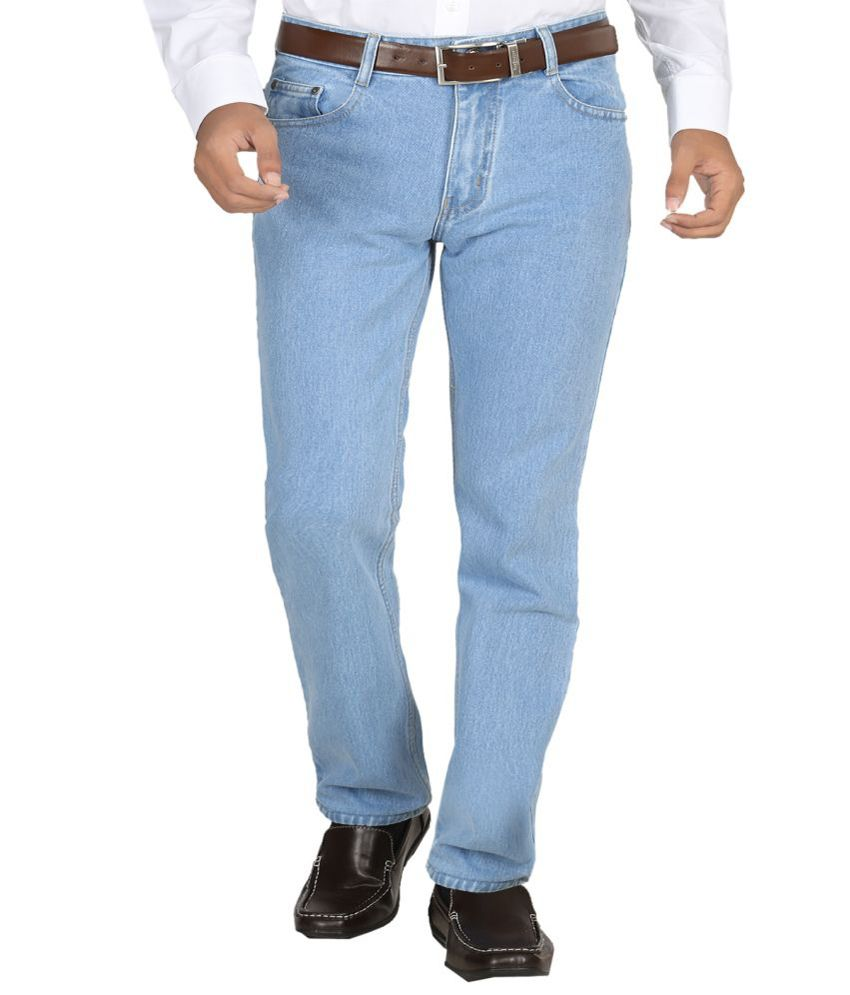 Momento Regular Fit Jeans for Men- Light Blue