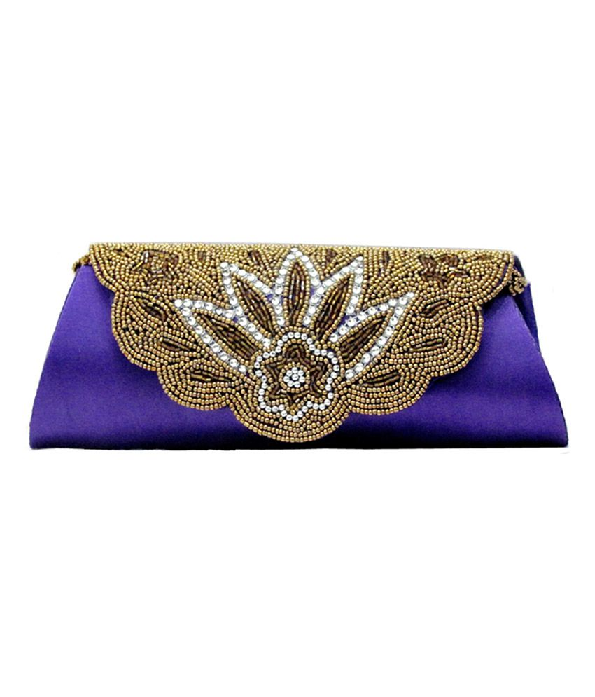 Anshul Fashion Blue Evening Wear Clutch