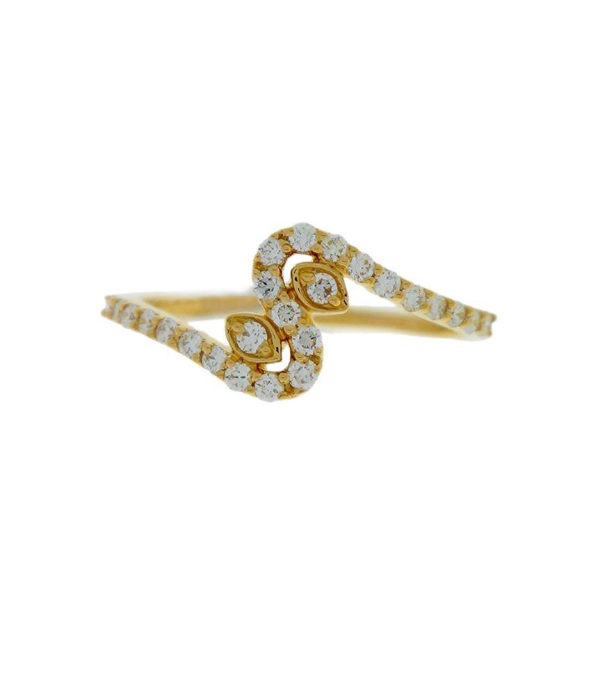 Delicate 18K Hallmarked Diamond Ring