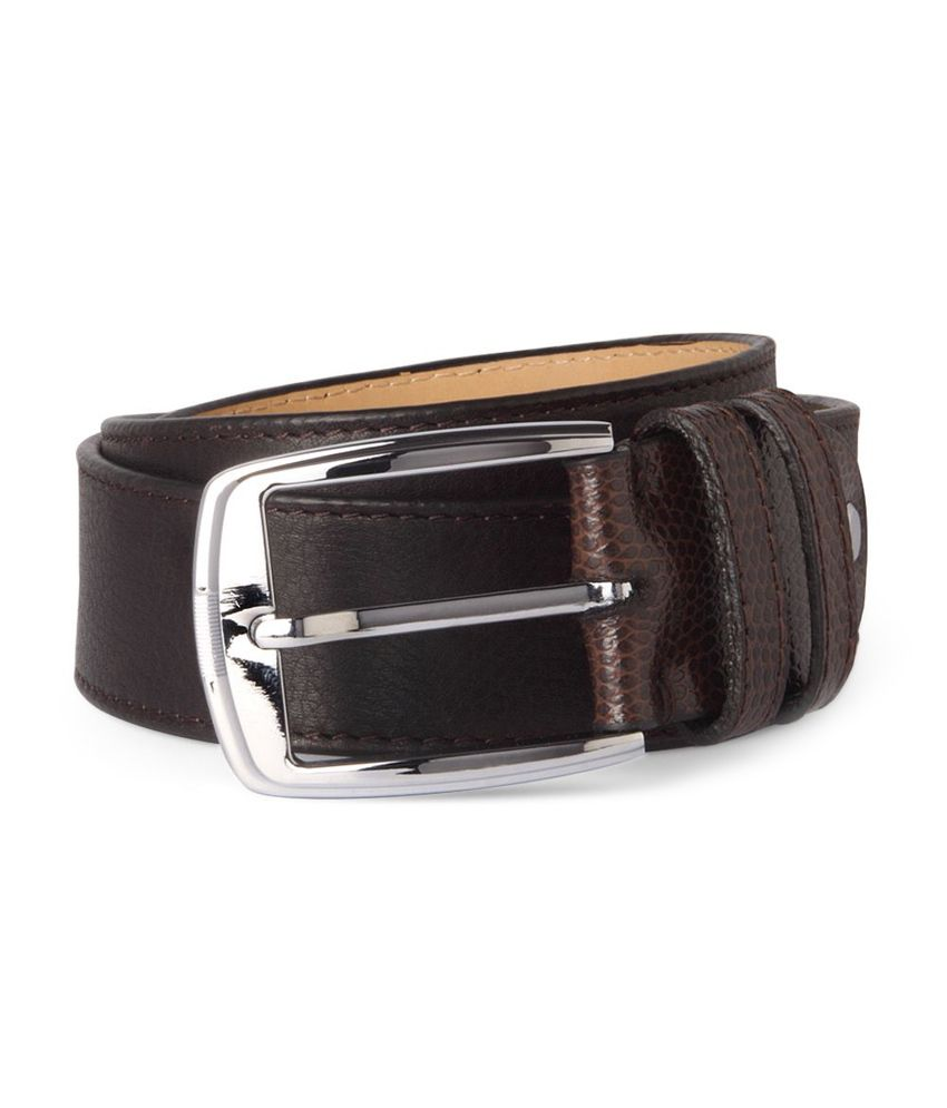 Louis Philippe Brown Formal Single Belt For Men