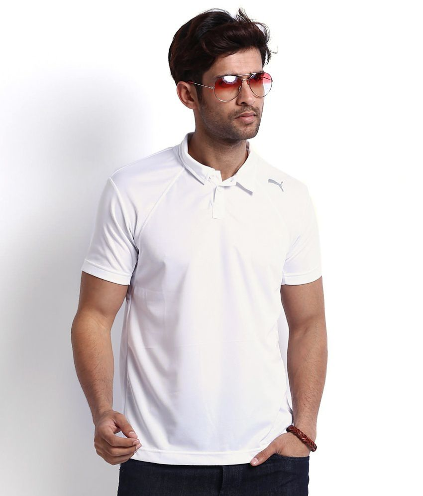 Puma White Polo T-shirt