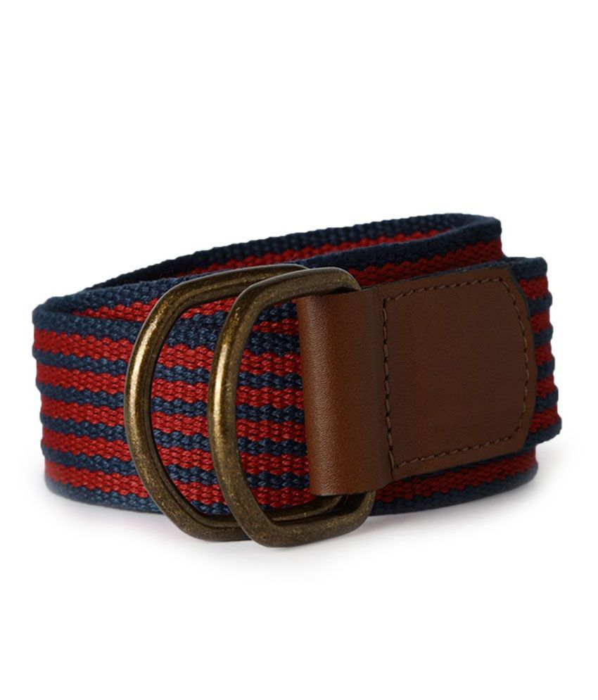 Allen Solly Red Casual Reversible Belt For Men