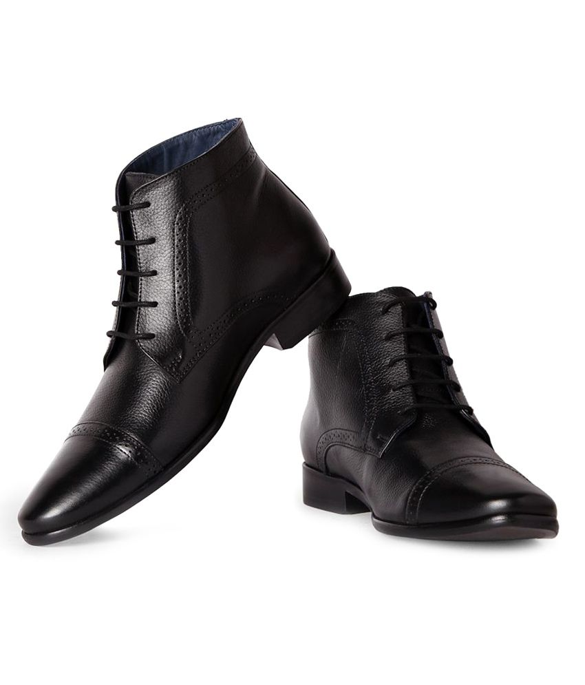 Louis Philippe Black Formal Shoes Price