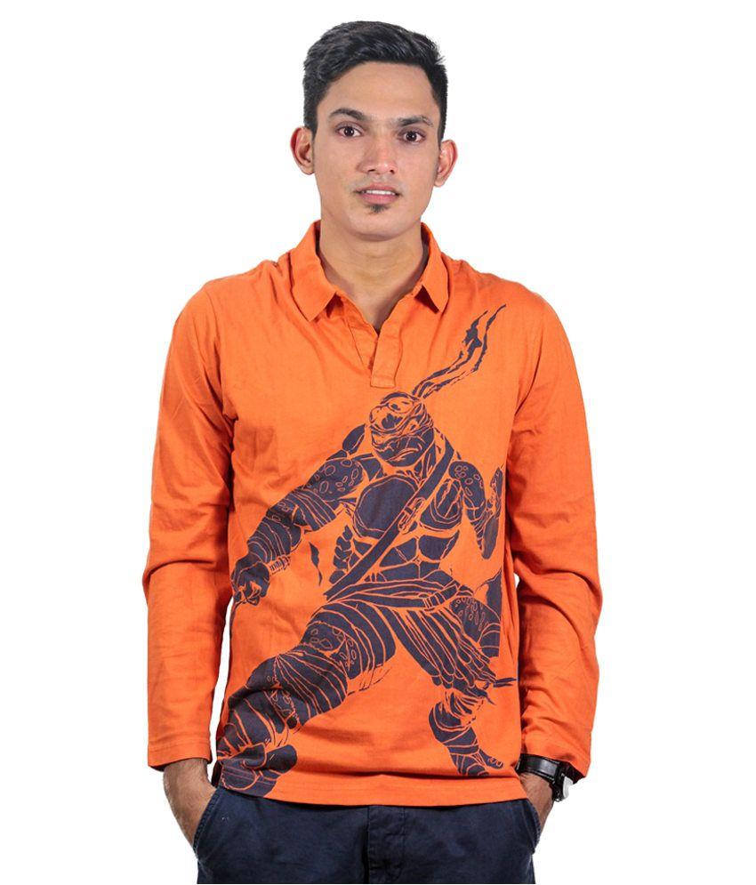 Teenage Mutant Ninja Turtle Orange Cotton T-shirt