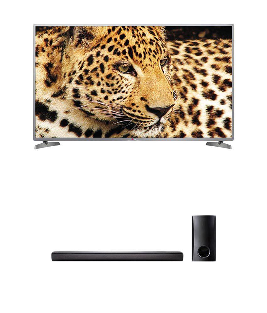 LG 50LB6500 127 cm (50) Full HD Cinema 3D Smart LED Television + LG NB2540 Bluetooth Soundbar (Wired Sub Woofer)