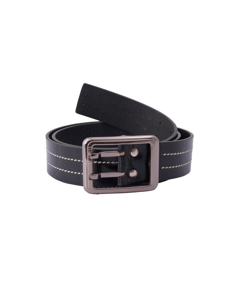 Belbuc Black Leather Single Casual Belt For Men