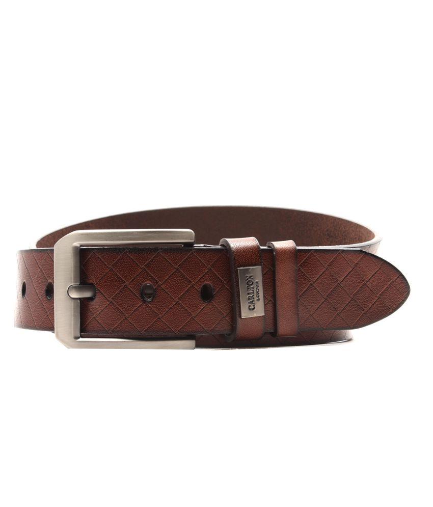 Carlton London Brown Casual Single Belt For Men