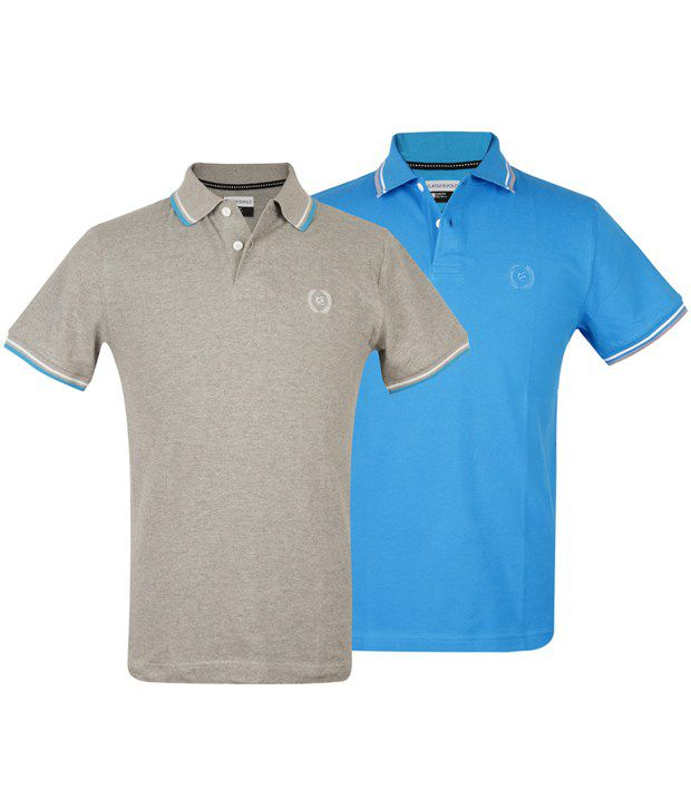 a8ae1be7 Classic Polo Twin Pack(grey/turquoise) Polo Slim Fit T-shirts - Buy Classic  Polo Twin Pack(grey/turquoise) Polo Slim Fit T-shirts Online at Low Price  ...