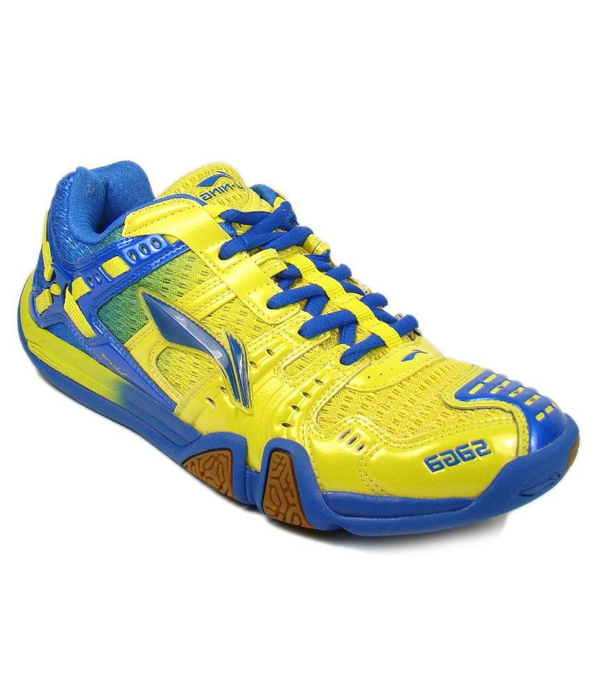 Li Ning Saga Ltd Edition Badminton Shoes Red Yellow