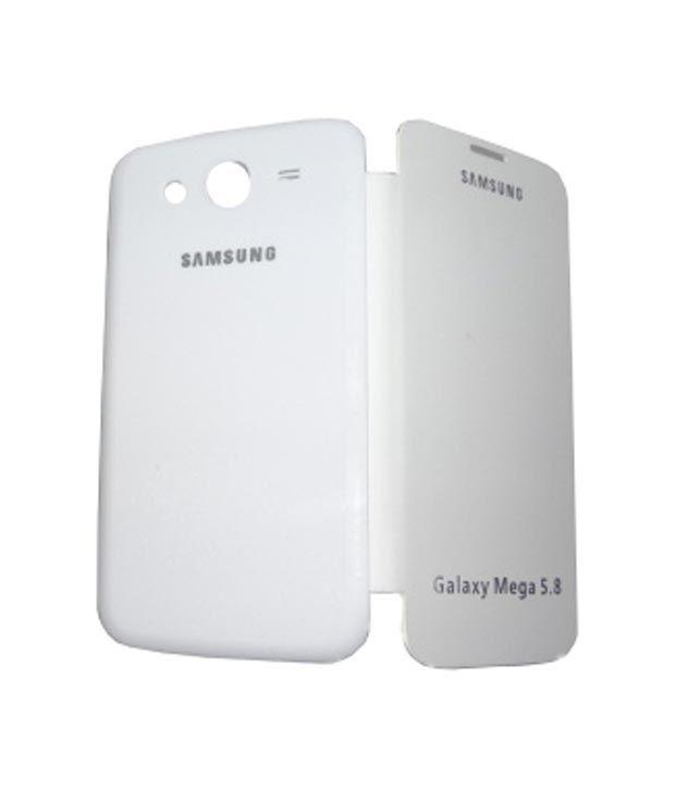 half off 41bd5 f5139 Redchillies Samsung Galaxy Mega 5.8 I9052 Flip Cover - White - Flip ...
