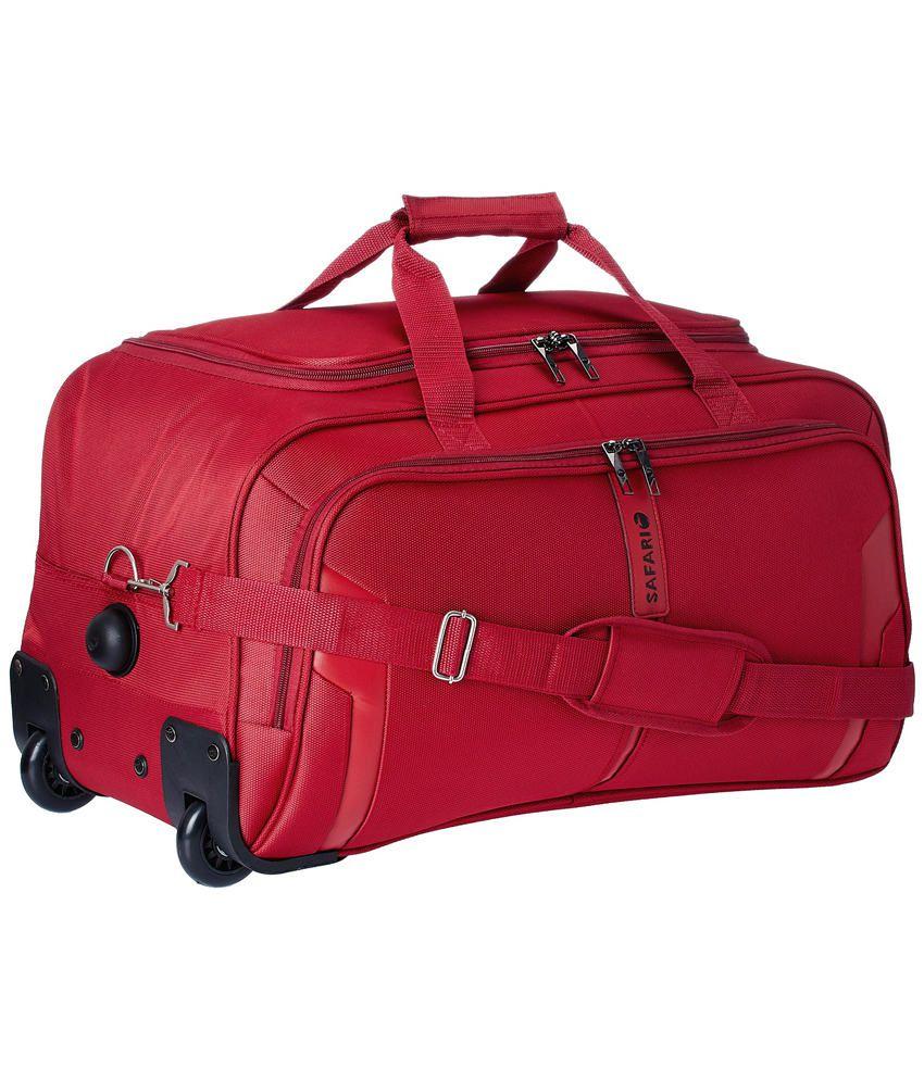aa9b73b5d40e Safari Mach 2 Wheel Red Soft Luggage Trolley-Size Small (Below 60 Cm) - Buy  Safari Mach 2 Wheel Red Soft Luggage Trolley-Size Small (Below 60 Cm)  Online at ...