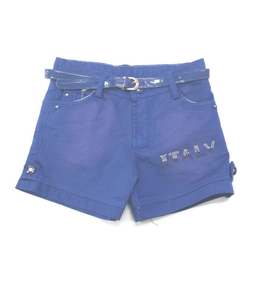 4s Blue Cotton Shorts
