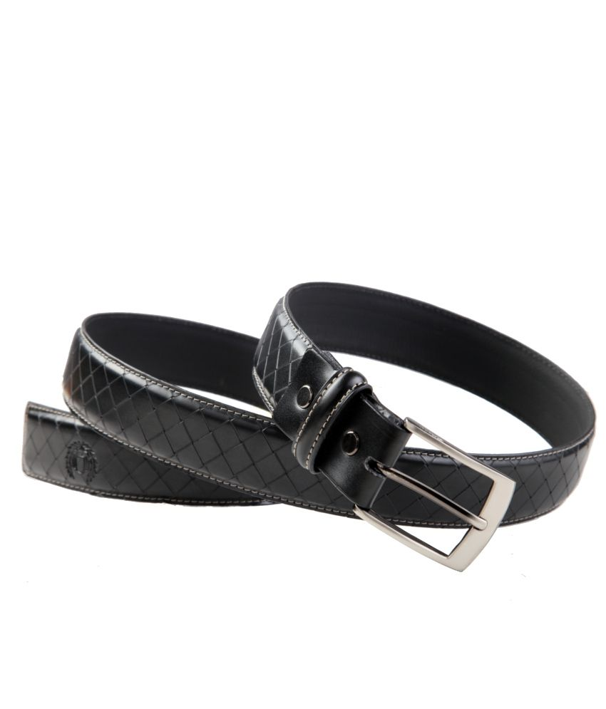 99Cells Black Formal Single Belt ForMen