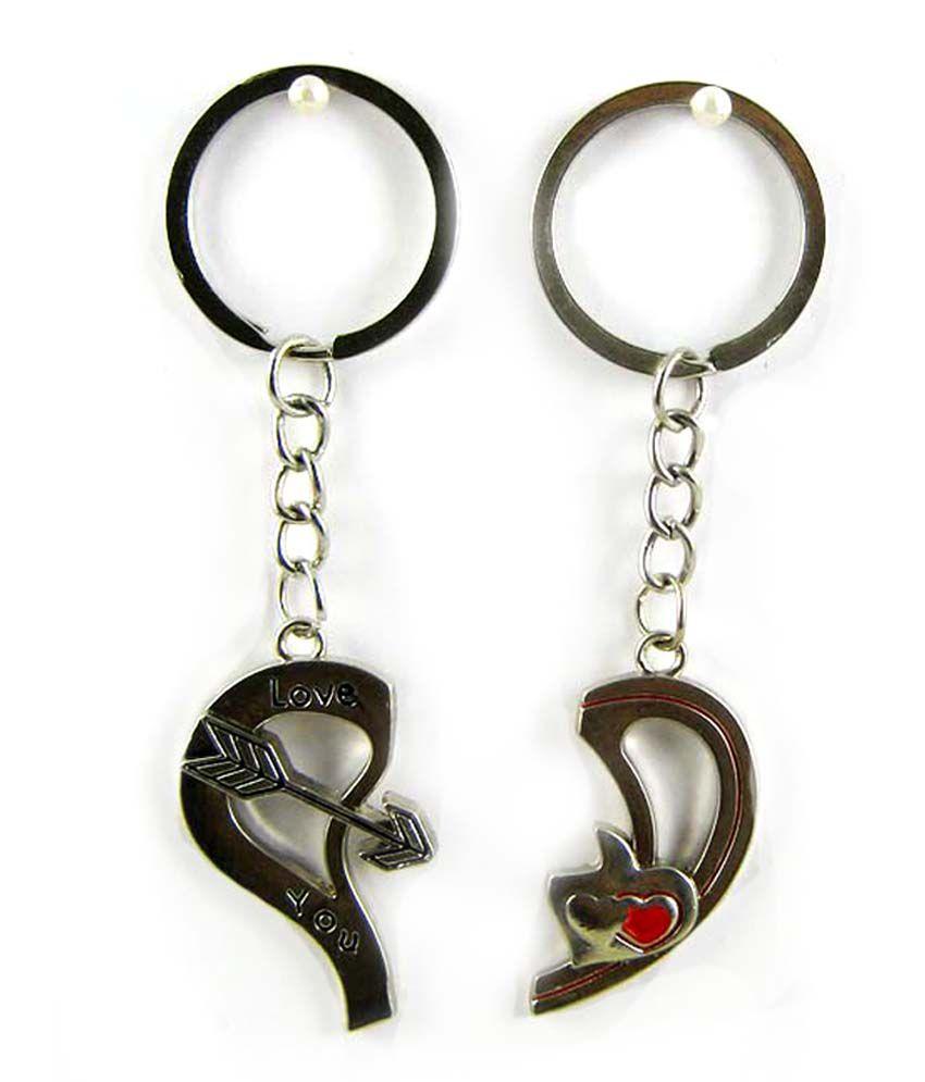 Eshoppee Love Heart Keychain Keyring