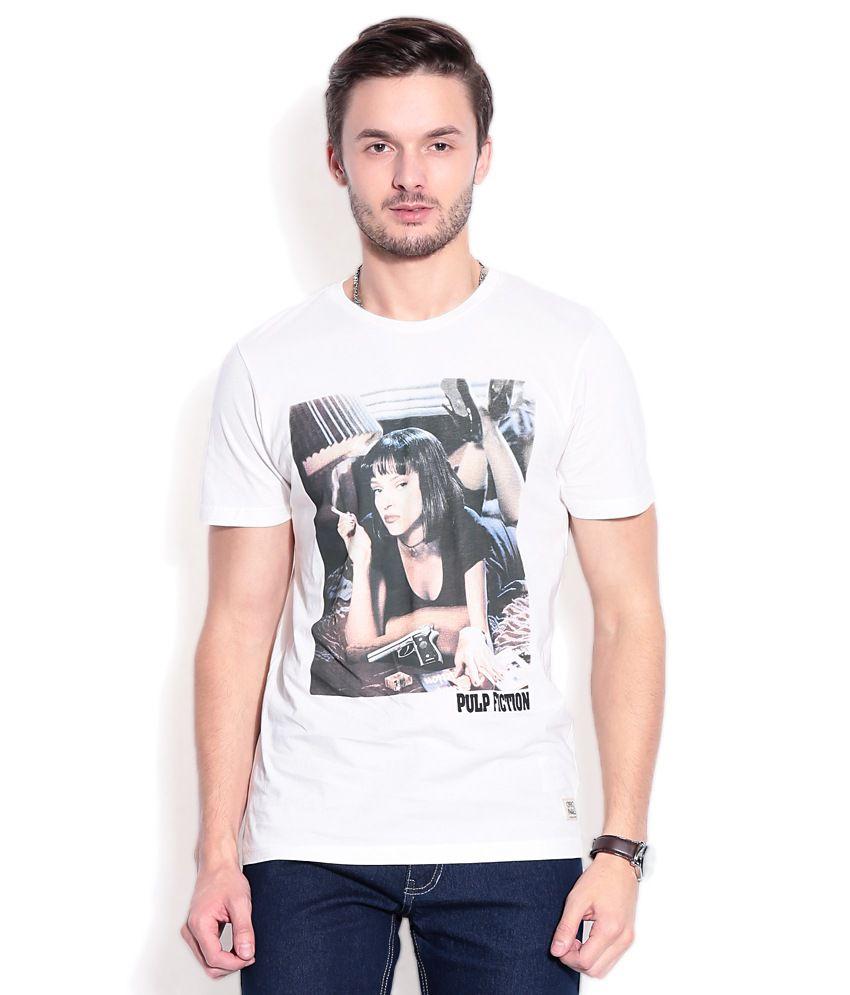 Jack & Jones White Cotton T-Shirt