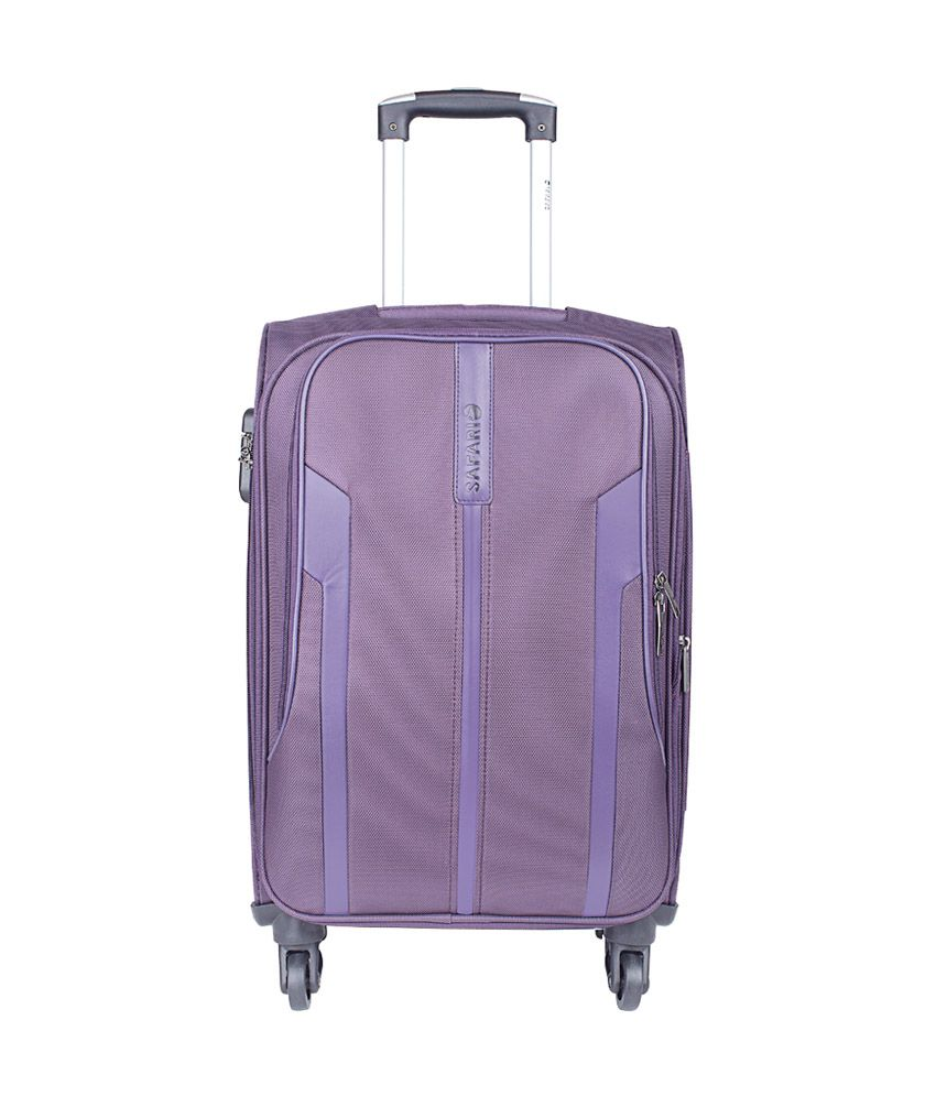 Safari Mach 4 Wheel Purple Soft Luggage Trolley-Size Small (Below 60 Cm)