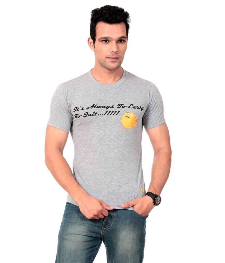Texco Grey T-shirt For Men