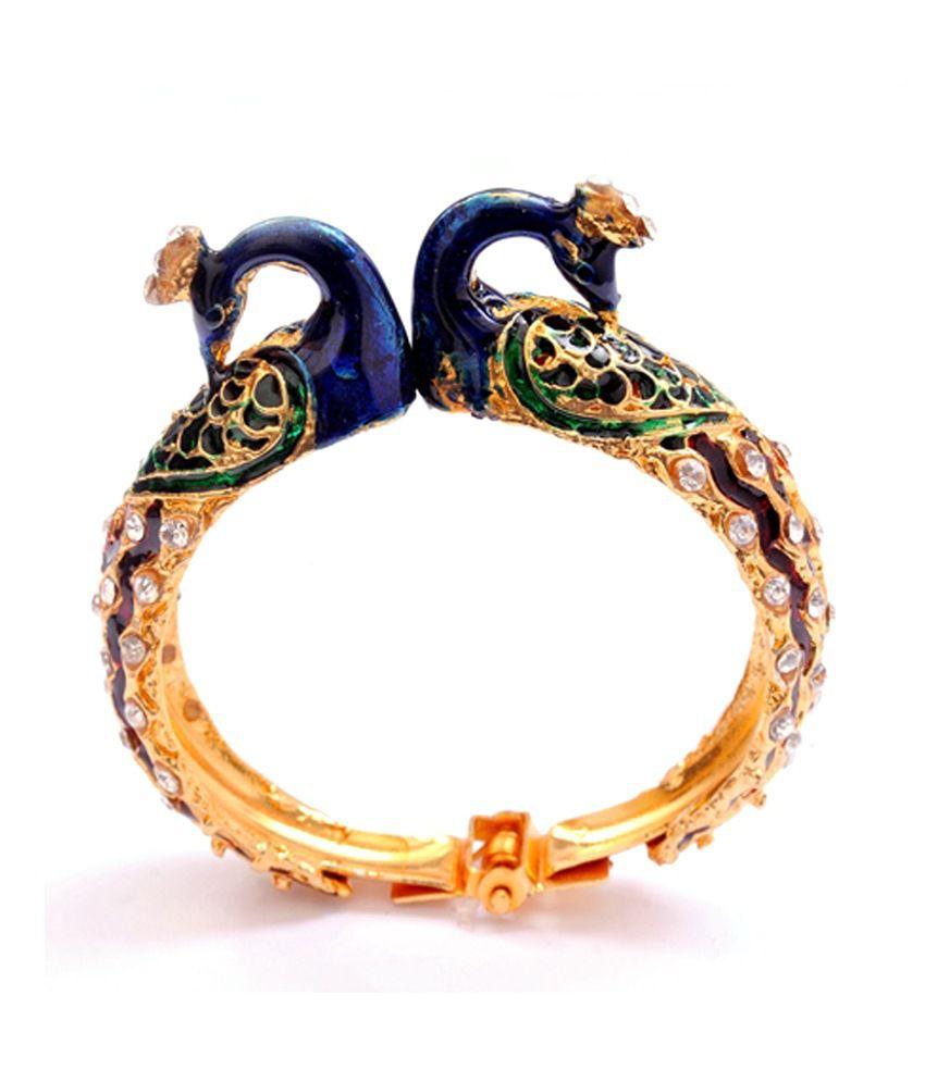 The Heritage Inc. Peacock Bangles