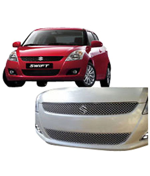 Aadi Auto Parts Maruti Suzuki Swift New Swift Dzire Front 2 Piece Grill  Chrome Set