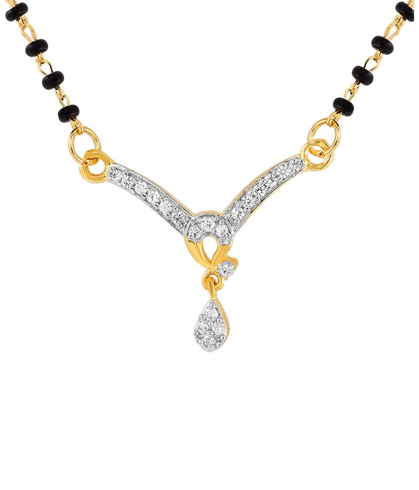 Mahi Stunning Golden And Black Mangalsutra