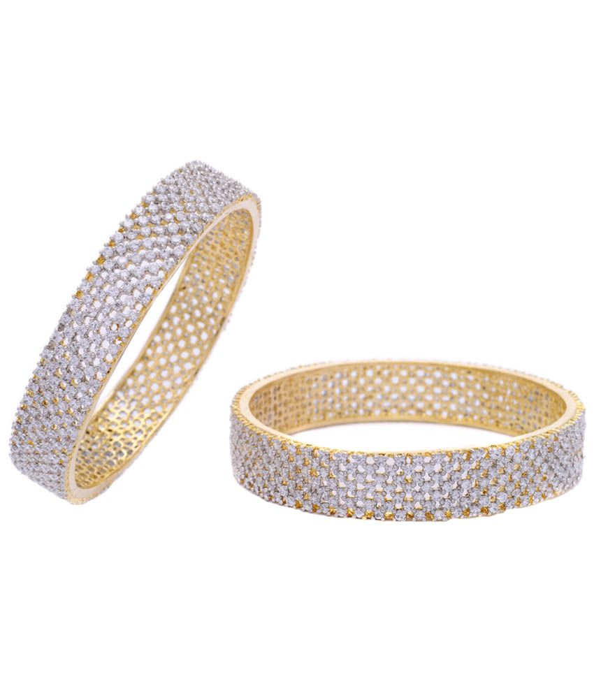 717368dab2982b Hyderabad Jewels Golden Bangles Pack Of 2: Buy Hyderabad Jewels Golden  Bangles Pack Of 2 Online in India on Snapdeal
