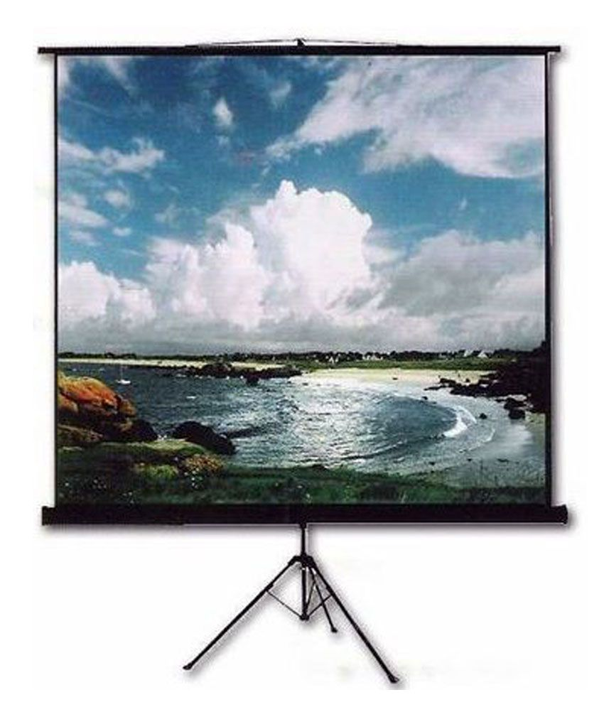 INLIGHT Tripod Type Projector Screen Size:   8 Ft. x 6 Ft. In Imported High Gain Fabric with 1.2 Gain