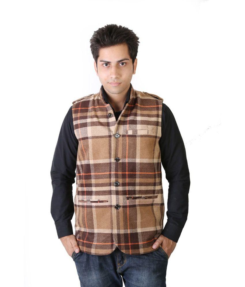 Asst Beige Woollen Nehru Jackets