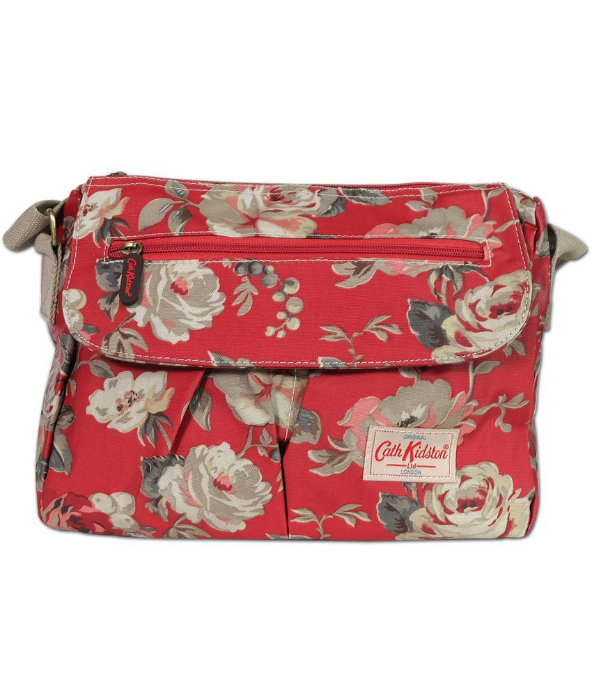 babbb2b612 Cath Kidston Vinatge Flower Printed Red Sling Bag - Buy Cath Kidston  Vinatge Flower Printed Red Sling Bag Online at Best Prices in India on  Snapdeal
