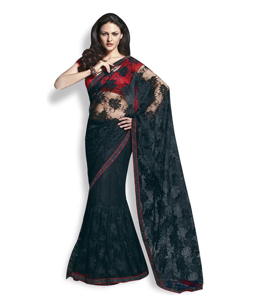 Ethnic dukaan black lehenga style black chantilly lace saree buy ethnic dukaan black lehenga style black chantilly lace saree aloadofball Gallery