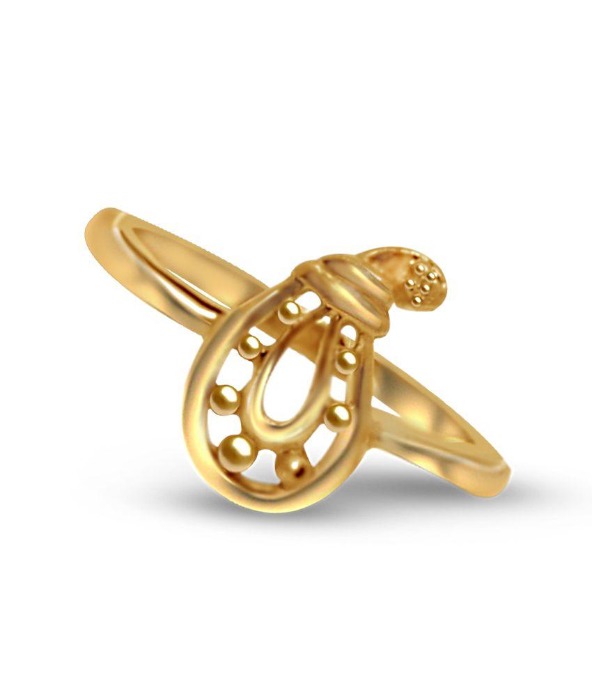 Jewelmantra 2.69g 22kt Golden Finger Ring: Buy Jewelmantra 2.69g ...