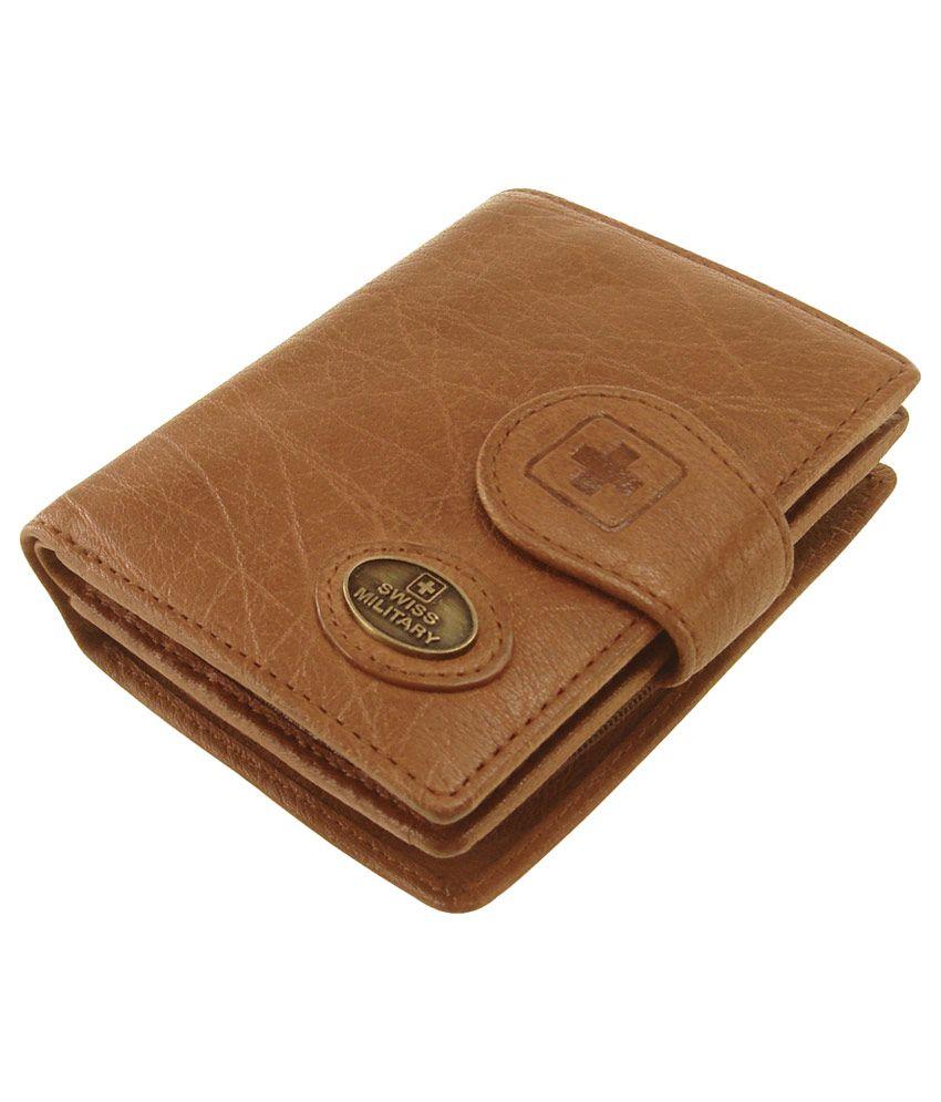 Swiss Military Genuine Leather Men's Wallet (lw-6): Buy ...
