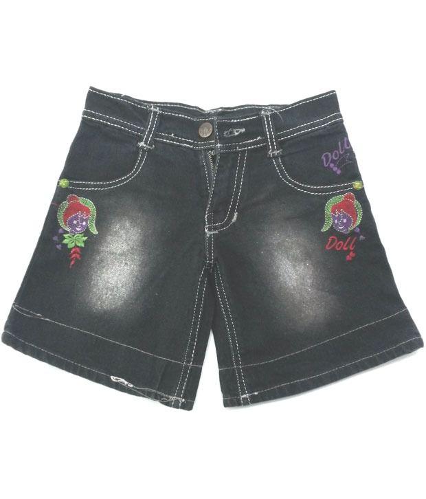 4s Black Trendy Shorts