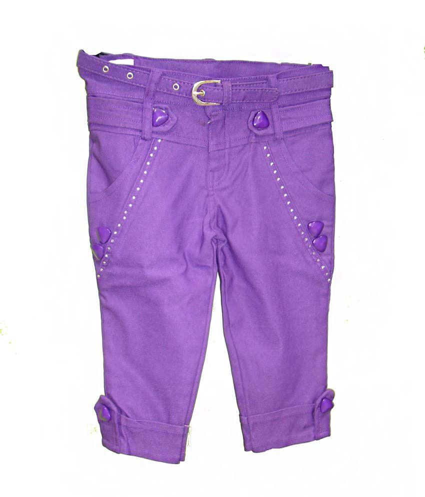 Bodingo Purple Lycra Capris